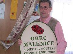 Malenice získaly třetí místo v soutěži Vesnice roku 2008.