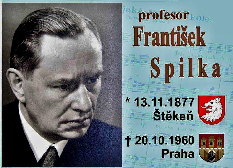 Vzpomínka na Františka Spilku u jeho rodného domu ve Štěkni.