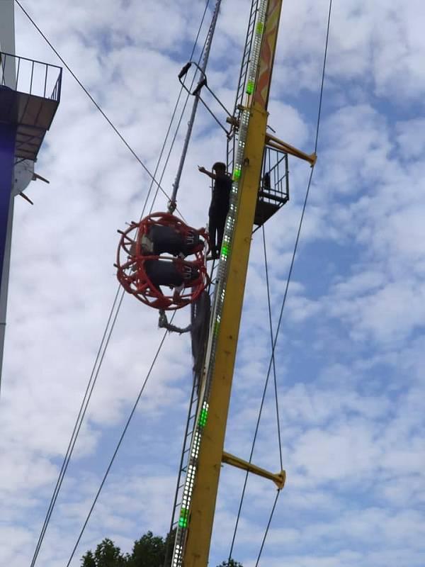Na pouti ve Strakonicích se na katapultu utrhlo gumové lano.