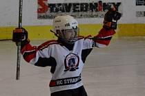 Na Křemelce se utkali nejmenší hokejisté.