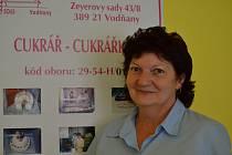 Vodňany - Marie Malkusová, vedoucí prodejny spojené s výrobním učňovským střediskem ve Vodňanech.