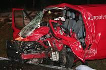 Nehoda u Volyně přinesla těžké zranění řidiči tranzitu.