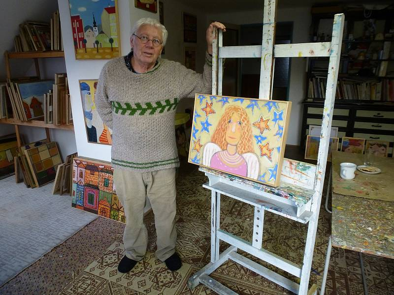 Malíř Josef Synek.