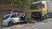 Tragická nehoda u Přechovic.