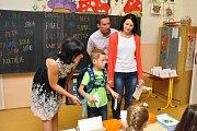 Začátek školního roku na ZŠ Dukelská ve Strakonicích.
