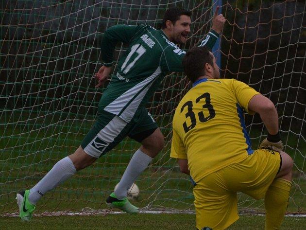 Katovický Libor Horejš zvyšoval na 2:0.