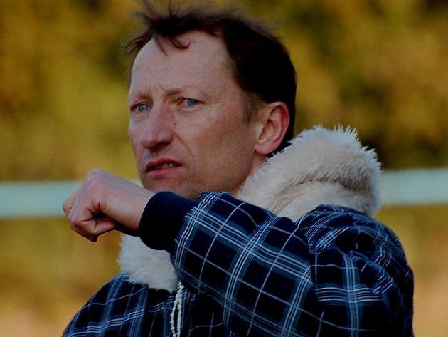 Trenér Vodňan Miroslav Vokatý.
