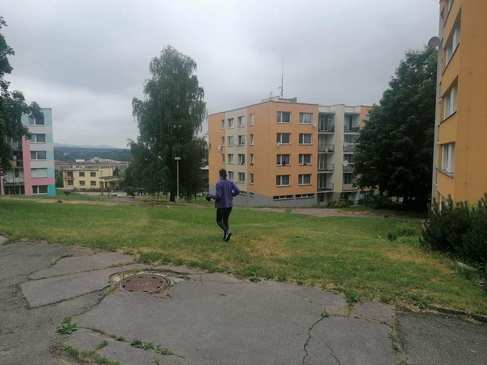 Strakonické sídliště Šumavská.