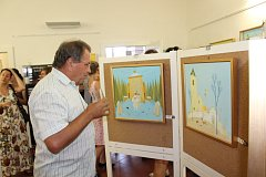 Výstava Dudy v obrazech Valentina Horby potrvá do konce září.