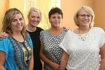 Zprava. Vítězka Božena Vyšatová, druhá Lenka Vágnerová, třetí Blanka Dvořáková a Eva Matušková.