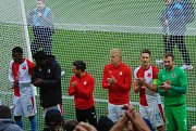 Strakoničtí fanoušci Slavie nechyběli na zápase proti Plzni.