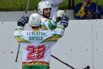 Radost hokejbalistů Blatné.