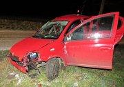 Tragická nehoda u obce Dobev.