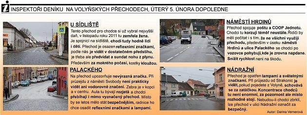Přechody ve Volyni - grafika.