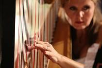 Poslechněte si hru na harfy. Ilustrační foto.