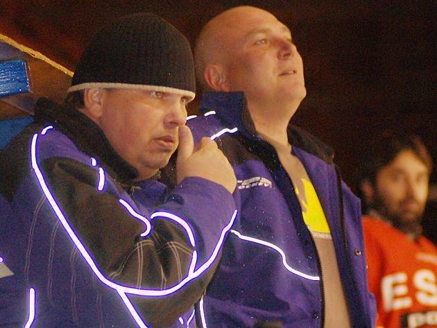 Richard Kepl a Václav Křivanec (zleva) coby trenéři mužů HC Strakonice, to už od příští sezony platit nebude.