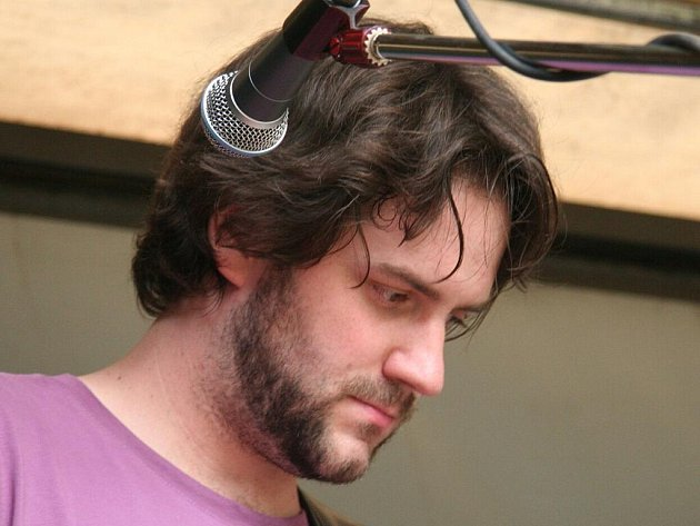 Muzikant Michal Šindelář.