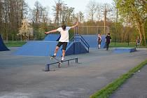 Skatepark v areálu Blanice často využívají místní mladí sportovci.