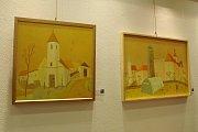 Jihočeský výtvarník z Radomyšle Valentin Horba vystavuje v Českých Budějovicích.