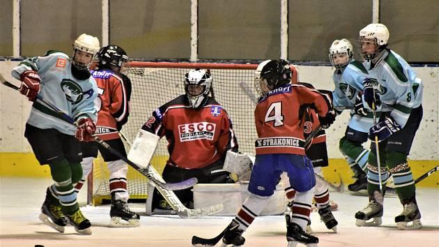 Strakoničtí hokejoví žáci dvakrát podlehli Milevsku.