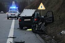 Dopravní nehoda u odbočky na Jinín