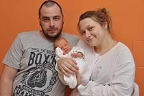 Viktorie Dostálová, Štěkeň, 23.1. 2018, ve 2.13 hodin, 3250 g. Malá Viktorie je prvorozená.