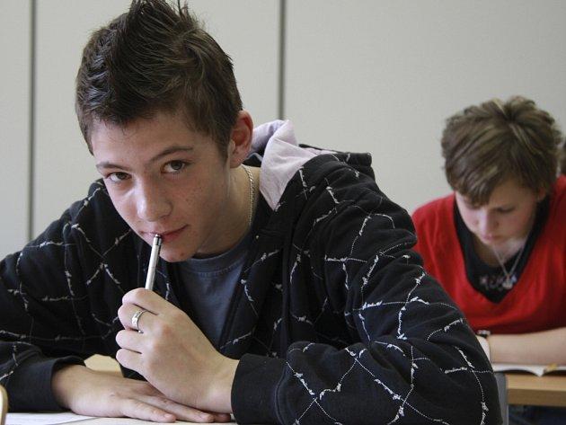 Přijímací zkoušky na strakonickém gymnáziu.
