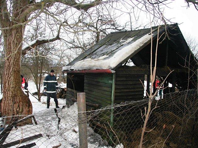 Požár zahradního domku