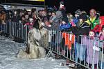 V sobotu 1. prosince v 17 hodin vyběhlo po skupinách 120 čertů z Horního a Dolního Rakouska branou na křižovatce ulic Lidická a Ellerova.