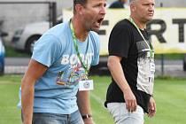 Trenéři Blatné Roman Remeš a Michal Brabec. Ilustrační foto.