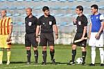 Fotbalový krajský přebor: Junior Strakonice - Třeboň 2:1.