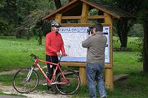 Michal Jančařík při natáčení cyklotoulek.