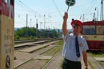 Strakonické vlakové nádraží.