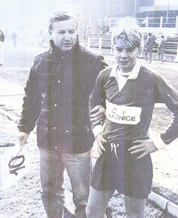 Jan Zušťák se svým otcem.