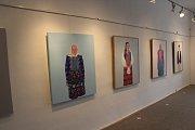 Výstava obrazů Chodské a jiné nálady ve Vodňanech.