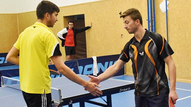 Stolní tenisté prohráli s Libínem a porazili České Budějovice.