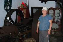 Josef Koutský ve strojovně