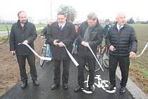 Slavnostní otevření cyklostezky Strakonice - Nový Dražejov.