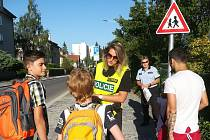 Policisté radili dětem.