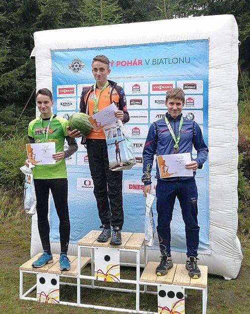 Strakonický  junior Antonín Hanuš přivezl zČeského poháru zlato.