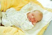 Sebastian Dutka, Vimperk, 26.3.2018 ve 14.36 hodin, 3490 g. Malý Sebastian je prvorozený.
