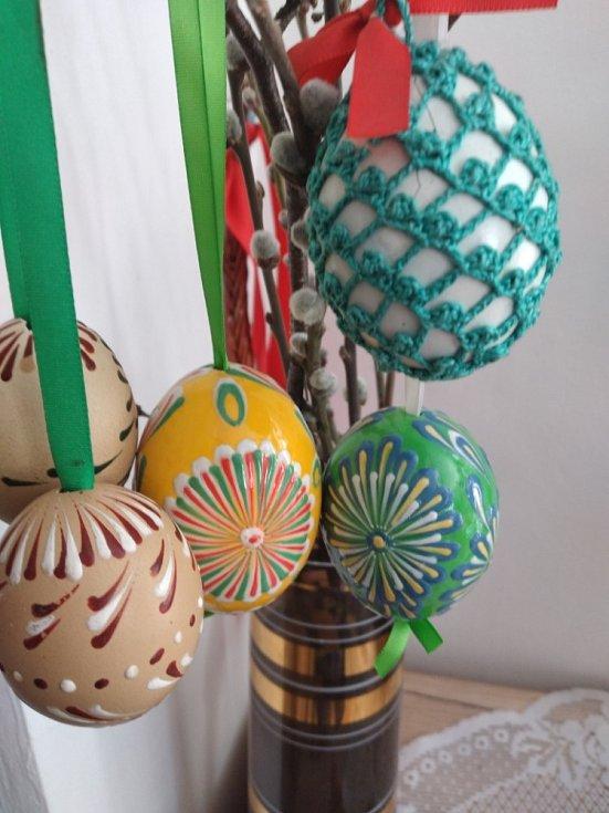 Velikonoční vajíčka od Aleny Bauerové.