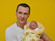 Marek Tolnaj, Husinec, 24.1. 2018, ve 14.48 hodin, 2900 g. Dvouletá Kristýnka má malého brášku.