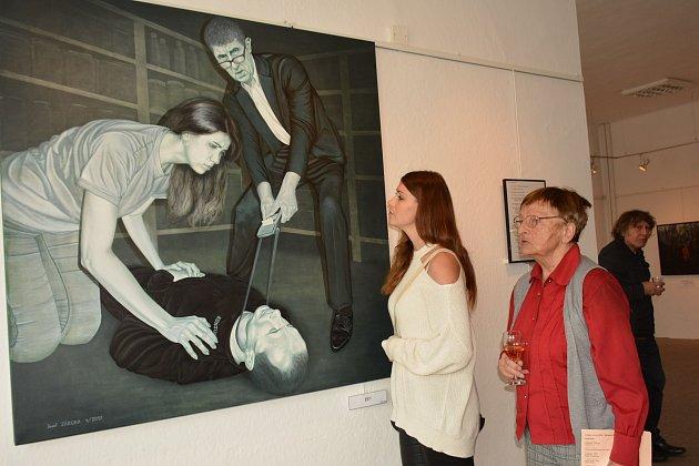 Výstava malířů Josefa Záruby a Milana Novotného s názvem Cesta a cíl v Městské galerii Vodňany.
