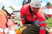Na strakonickém letišti probíhal ve středu 7. června nácvik složek integrovaného záchranného systému.