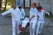 Cvičení ve strakonické nemocnici.