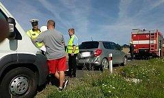 Pondělní ranní nehoda u Vodňan.