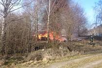 Požár v Čejeticích.