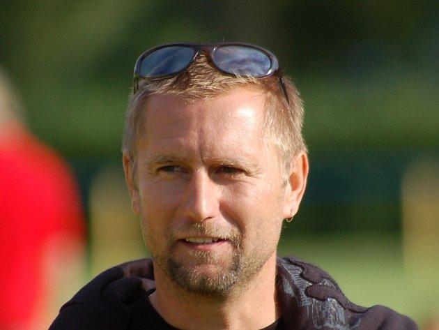 Trenér Jaroslav Voříšek.