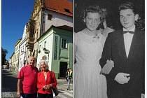 Josef Karlovec a jeho partnerka z tanečních Maruška.